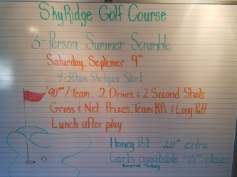 Golf For Softball Tournament/Fundraiser